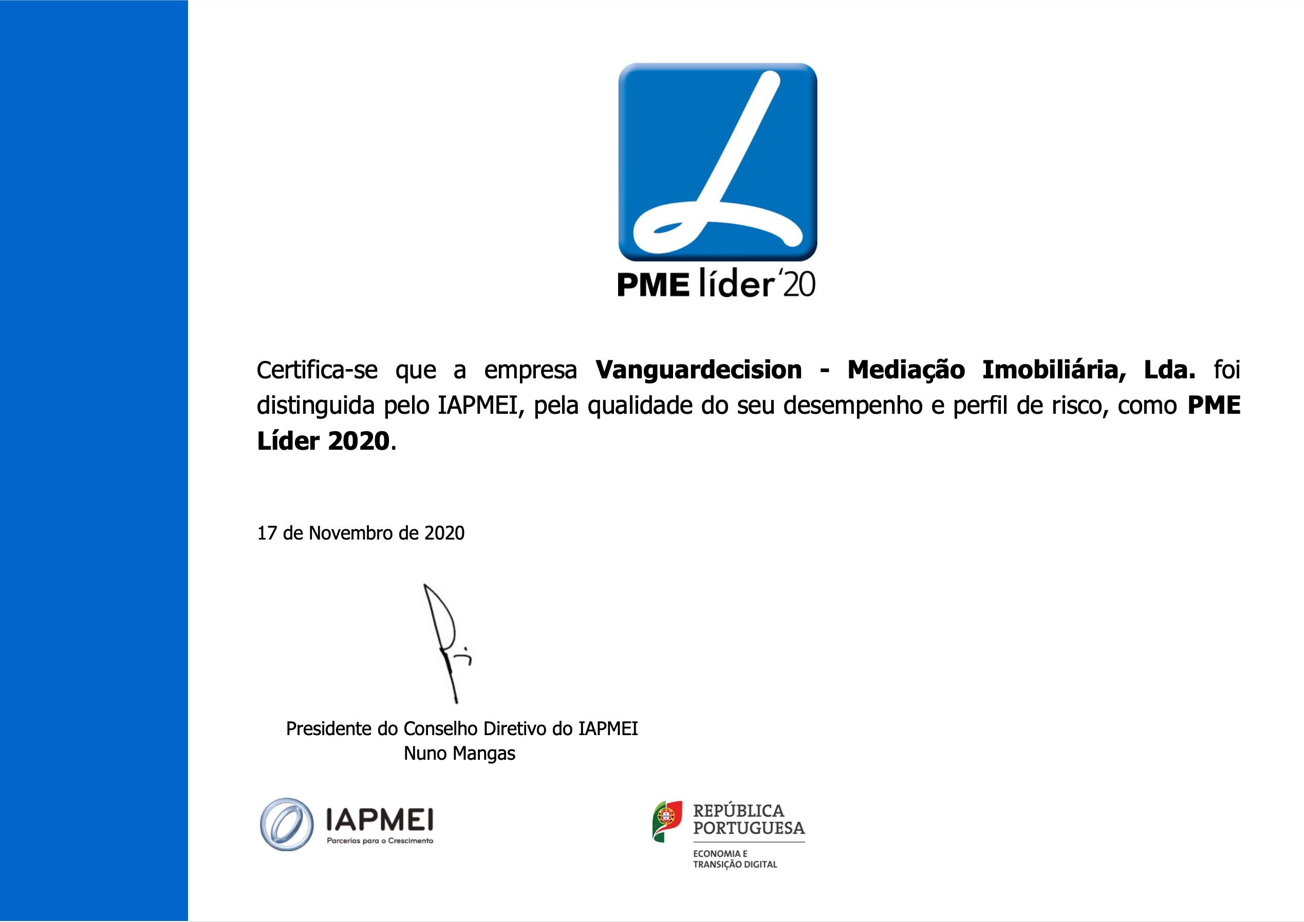 Grupo Prummo ganha o prémio de PME Líder 2020