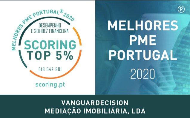 Certificação de TOP 5% MELHORES PME DE PORTUGAL.