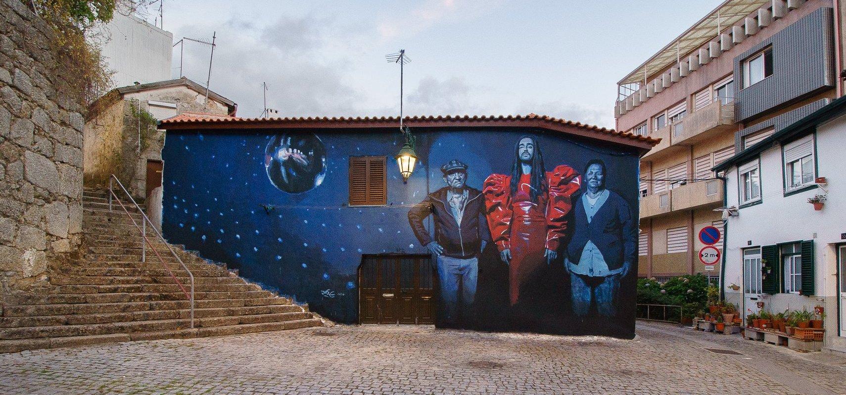 A arte urbana no centro histórico da Covilhã. Para visitar e apreciar!